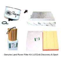 Set filtre revizie Range Rover Sport 2010-2013 3.0 TDV6 Originale Piese Land Rover  Piese Range Rover phe000112 lr023977 lr013148 lr009705